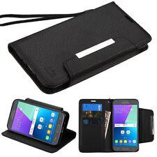 For Samsung Galaxy J3/Emerge/Sol 2 Black MyJacket Flip Wallet Phone Case Cover