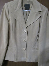 John Paul Richards  Beige  Suede Leather Jacket  Blazer  sz 6  Quality Leather