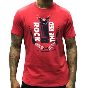 Washington Capitals 47 Brand ROCK THE RED TEE NHL Short Sleeve T-Shirt -Red