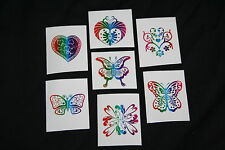 18 x Glitter Tattoos Great for Kids Parties or Stocking Fillers