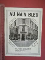 PUBLICITE ANCIENNE - PUB ADVERT illustration années 20 magasin Jouets nain bleu