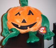 Ty Beanie Buddy ~ PUMKIN the 7.5 Inch Pumpkin ~ MINT with MINT TAGS