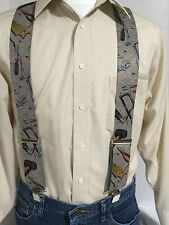 "New, Men's, Gray Hand Tools, XL, 2"", Adj. Suspenders / Braces, Made in the USA"
