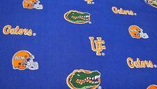 University Of Florida Gators Blue Cotton Fabric