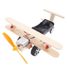 DIY Science Experiment Toy Plane Model Electric Educational Toy Double light