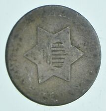 RARE Silver Trime 1855 Three Cent Silver 3 Cent Early US Coin Look it up! *050