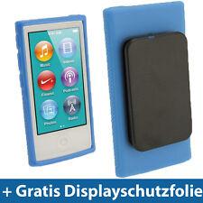 Blau Gel Clip Tasche für Neu Apple iPod Nano 7. Gen Generation 7G 16GB Etui