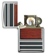 Zippo Steel and Wood Lighter With Pipe Lighter Insert 28676