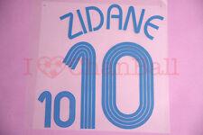 Zidane #10 2006 France Awaykit Nameset Printing