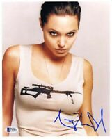 Angelina Jolie Signed Autographed 8x10 Photo Beckett BAS COA