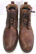 Steve Madden M Daniel Brown Leather Boots Side Zip Mens Size 13