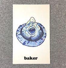 Baker Skateboards Sticker Monster 4in blue si