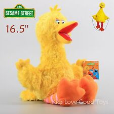 Sesame Street Big Bird Furry Plush Yellow Soft Doll Cuddle Stuffed Toy 16'' Nwt