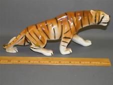 """Vintage Porzellan Tiger Figur Royal Dux voll geprägt 12"""" lang"""
