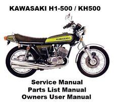 H1 500 KH500 - Owners Workshop Service Repair Parts Manual PDF on CD-R MACH 3