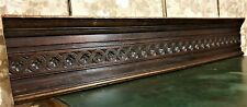 Large bullseye flower wood carving pediment Antique french architectural salvage
