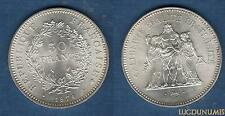 V République, 1959 - 50 Francs Hercule 1974 SUP Argent