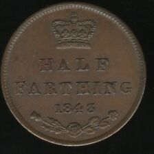 More details for 1843 victoria half farthing coin | british coins | pennies2pounds