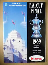 1989 FA CUP FINAL- EVERTON v LIVERPOOL (Official Match day Programme) Org,Exc*