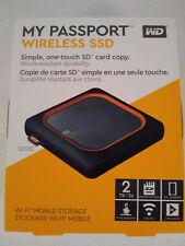 WD 2TB My Passport Wireless SSD External Portable WiFi USB WDBAMJ0020BGY-NESN