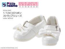 Azone Picconeemo D Ribbon Strap Shoes White Blythe Pullip DAL Momoko 1/6 Obitsu