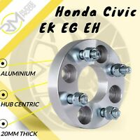 4x100 20mm Hubcentric Wheel Spacers 1 Pair to fit Honda Civic EK EG EH