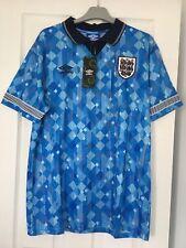 Football England 1990 World Cup Finals Third Shirt/ Umbro/Retro/ Size Large
