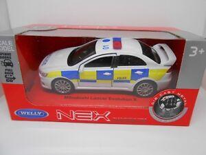 TOY CAR POLICE CAR MITSUBISHI EVO BOY GIRL DAD BIRTHDAY PRESENT GIFT NEW BOXED