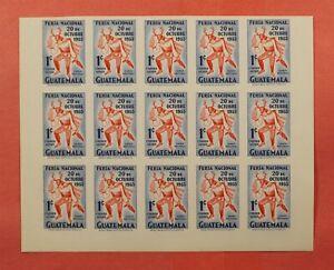 IMPERF PROOF 1953 GUATEMALA SHEET #C188 MNH * EX LEO MALZ