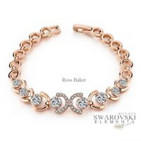 Swarovski Genuine Crystal 18K Rose Gold plated Bracelet + Gift box