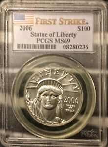 2006 $100 platinum PCGS MS 69 First strike pop 426