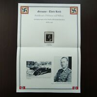 Germany Nazi 1943 Stamp MNH Deathmask of Reinhard Heydrich WWII Third Reich Deut