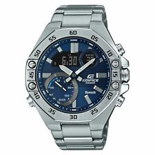 Casio Edifice ECB10D-2 Full-Time Smartphone Link Chronograph Stainless Steel