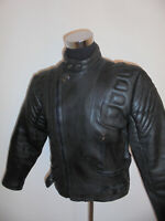 vintage Motorradjacke Lederjacke motorcycle genuine leather 80`s oldschool 54