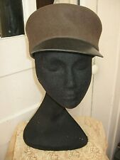 Vintage Eric Javtts Brown 100% Wool Visor Hat