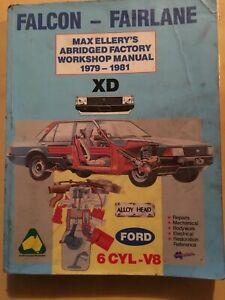 FORD FALCON XD 1979 1981 6CYL V8 MAX ELLERY WORKSHOP MANUAL