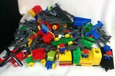 Lego Duplo Large Bundle Train Track Vehicles People Bricks 1.9KG Clean #259
