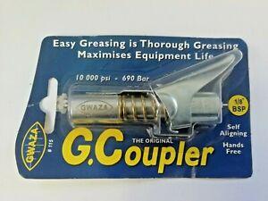 GWAZA LTD, GREASE GUN END, COUPLER ATTACHMENT, QUICK AND EASY, 1/8 BSP, AUTO ALI