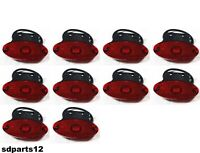 10x 24V Luci 2 LED Rossi Fanali Ingombro Riflettore Trattore Camion Roulotte