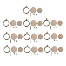 10 set 2.5CM Mini Embroidery Hoop Ring Wooden Cross Stitch Frame For Hand Crafts