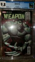 WEAPON H #1 Dale Keown Variant Cover Cgc 9.8 Hulk homage cover