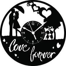 OROLOGIO DA PARETE -  Idea Regalo - Vintage Handmade - Amore Coppia Love Forever