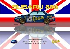 Greetings card Subaru Impreza 555 1995 #4 McRae / Ringer WC Version 3