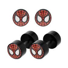 Marvel Spider-Man Face 18G Fake Plug Earrings