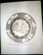 Circa 1820-50 HANS BULING, Dutch Mountebank SATIRE print by I.R.Cruickshank