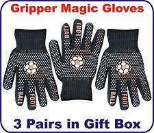 Christmas Gift Foot Ball Gripper Black Magic Gloves Unisex Men Ladies Xmas