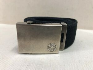 Mens Levis Nylon Web Belt Navy Size 36 Silver Buckle Can Cut To Fit Smaller