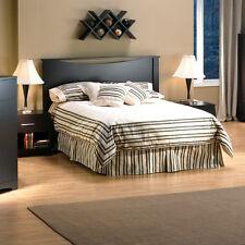 3-Piece Dark Brown Queen Bed Furniture Set Home Bedroom Dorm Room Nightstand