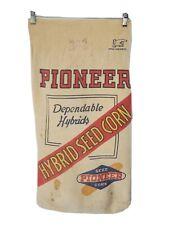 Vintage Pioneer Seed Sack Farmer