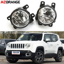 Pair Left & Right For Jeep Renegade 2015-2018 Fog Light Driving Lamp Clear Lens